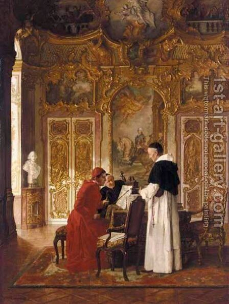 A Rehearsal by August Johann Holmberg - Reproduction Oil Painting