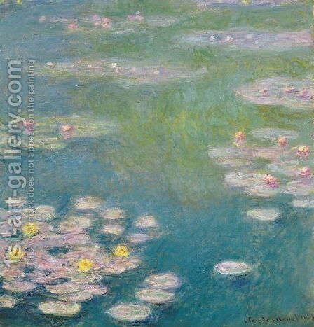 Nympheas 5 by Claude Oscar Monet - Reproduction Oil Painting