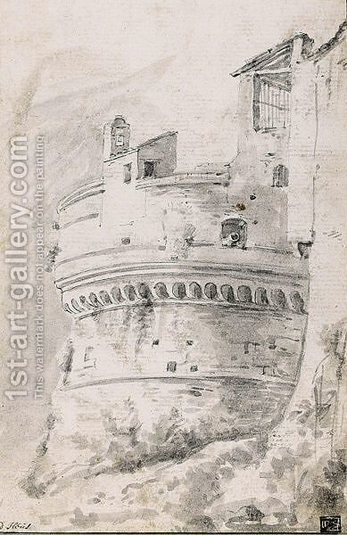 Study Of An Italianate Fortification by (after) Willem De Heusch - Reproduction Oil Painting