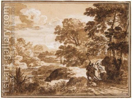 Landscape With Balaam And The Ass by Herman Van Swanevelt - Reproduction Oil Painting