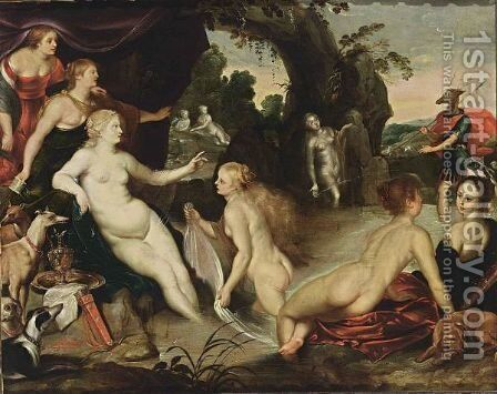Diana And Acteon by (after) Hans I Rottenhammer - Reproduction Oil Painting