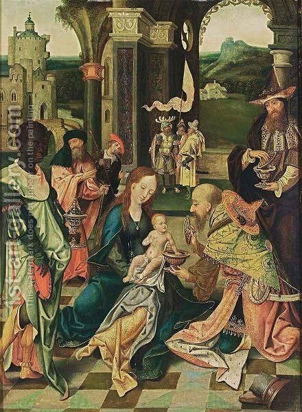 The Adoration Of The Magi 3 by Antwerp School - Reproduction Oil Painting