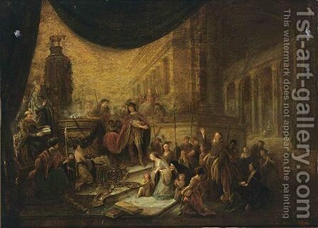 The Israelites Worship The Golden Calf by Jacob Willemsz de Wet the Elder - Reproduction Oil Painting