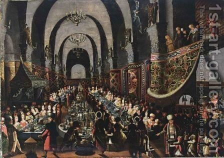 The Feast Of Belshazzar by Belgian Unknown Masters - Reproduction Oil Painting