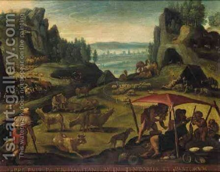 The Life Of Abel by (after) Maarten De Vos - Reproduction Oil Painting