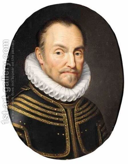 A Portrait Of A Man, Bust-Length, Wearing Armour by (after) Anthony Van Ravesteyn - Reproduction Oil Painting