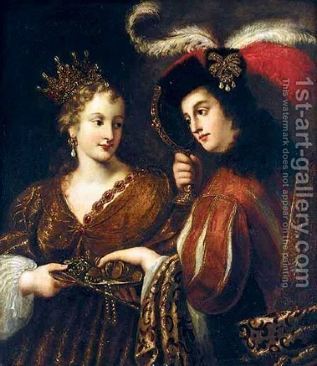 An Allegory Of Wealth by (after) Claude Vignon - Reproduction Oil Painting