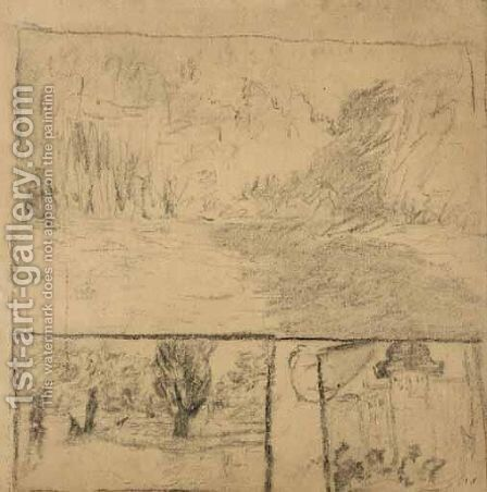 Paysages by Edouard  (Jean-Edouard) Vuillard - Reproduction Oil Painting
