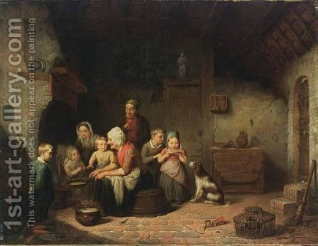 Pancake Day by Alphonse Cornet - Reproduction Oil Painting