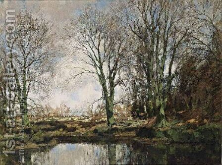 An Autumn Landscape 2 by Arnold Marc Gorter - Reproduction Oil Painting