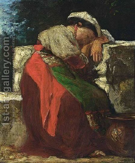 Italienne by Jacob Henricus Maris - Reproduction Oil Painting
