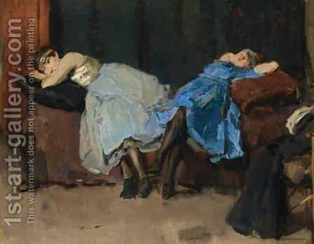 After The Dance by Isaac Israels - Reproduction Oil Painting