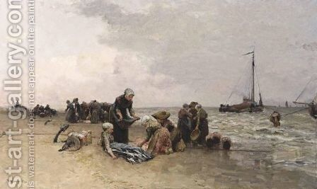 Sorting The Catch 3 by Bernardus Johannes Blommers - Reproduction Oil Painting