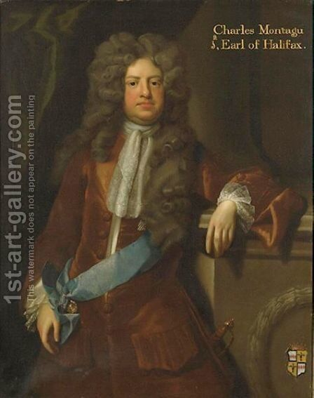 Portrait Of Charles Montagu, Ist Earl Of Halifax by (after) Kneller, Sir Godfrey - Reproduction Oil Painting