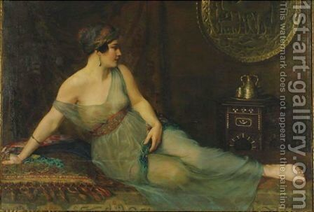 Odalisque by Gustav Sykora B - Reproduction Oil Painting