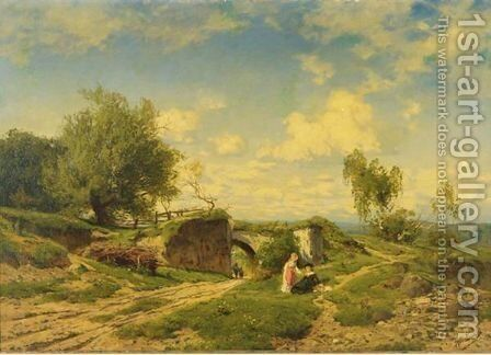 An Afternoon Outing by Hans Von Bartels - Reproduction Oil Painting