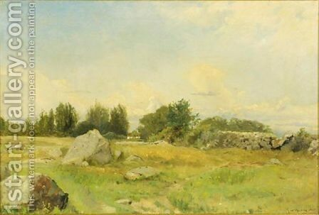 Rocky Hill by Gustaf Fredrik Rydberg - Reproduction Oil Painting