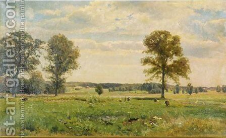 Working On The Field by (after) Gustaf Fredrik Rydberg - Reproduction Oil Painting