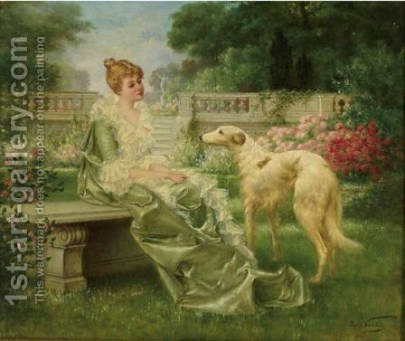 Lost In Thought by Carl Kahler - Reproduction Oil Painting
