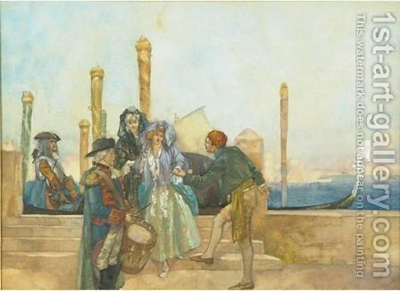 The Gondoliere by Sir William Russell Flint - Reproduction Oil Painting
