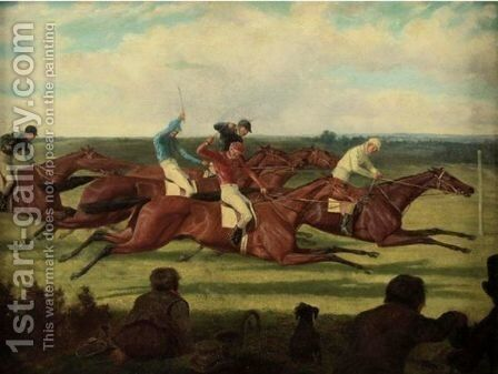 The Close Finish by (after) Richard Dodd Widdas - Reproduction Oil Painting