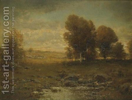 Pastoral Landscape by Alexander Helwig Wyant - Reproduction Oil Painting