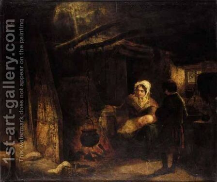 The Highland Wife by (after) Sir David Wilkie - Reproduction Oil Painting