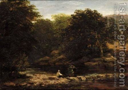 Stepping Stones by David Cox - Reproduction Oil Painting