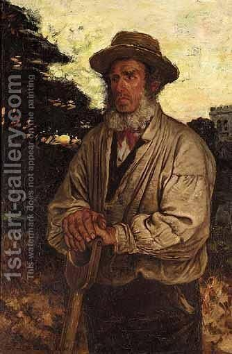 The Grave Digger by Charles Frederick Lowcock - Reproduction Oil Painting
