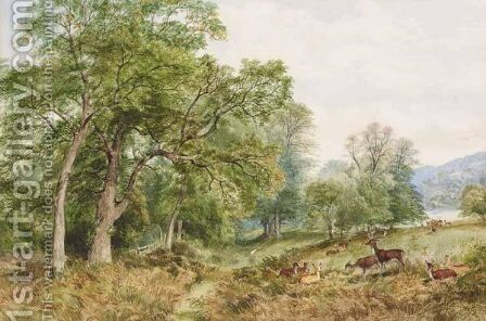 Richmond Park by Henry Jutsum - Reproduction Oil Painting