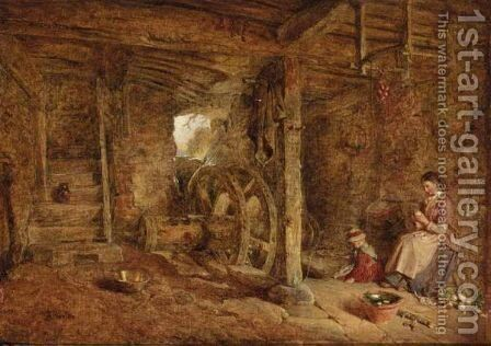 Interior Of Ruined Mill Near Chippenham by Alfred Provis - Reproduction Oil Painting