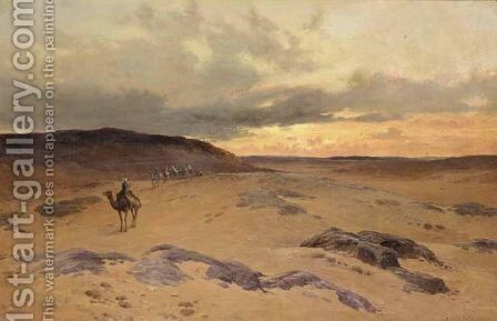 The Desert Near The Pyramids, Gizeh by David Bates - Reproduction Oil Painting