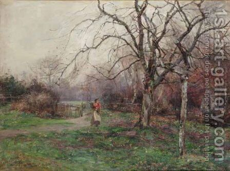 The Old Orchard by James Herbert Snell - Reproduction Oil Painting