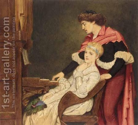 Music That On The Spirit Lies, Gentlier On Tired Eye-Lids On Tired Eyes by Sir James Dromgole Linton - Reproduction Oil Painting