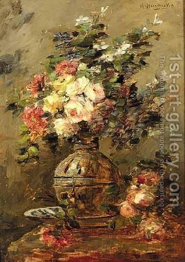Flower Still Lifes by Michel Hendrickx - Reproduction Oil Painting