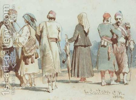 In Cattaro by Carl Haag - Reproduction Oil Painting
