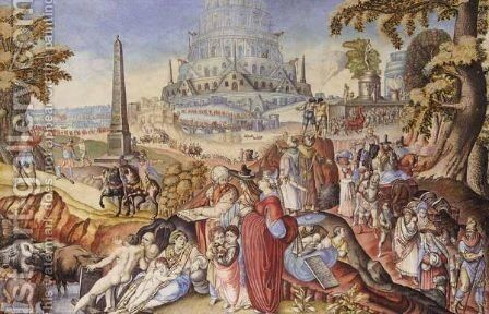The Tower Of Babel by Continental School - Reproduction Oil Painting