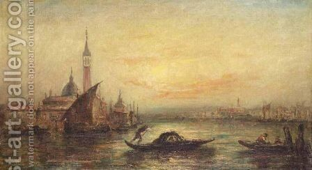 St Mark's Square, Venice by (after) Felix-Francois-Georges-Philibert Ziem - Reproduction Oil Painting