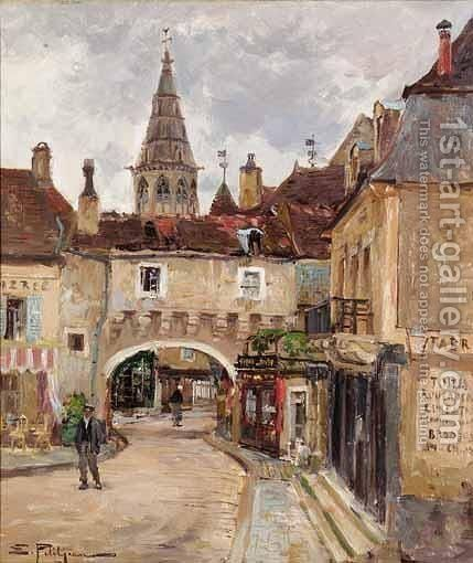 Chaussee De Charleroi by Edmond Marie Petitjean - Reproduction Oil Painting