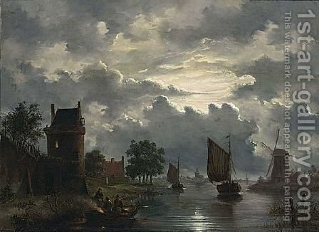 An Evening Landscape by (after) Jacobus Theodorus Abels - Reproduction Oil Painting