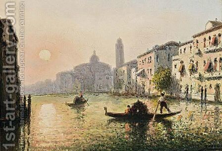 A View Of Venice by Italian School - Reproduction Oil Painting