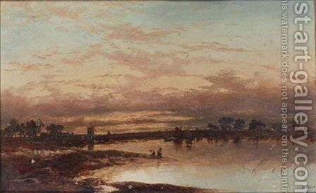 Estuary Scene by (after) Joseph Thors - Reproduction Oil Painting
