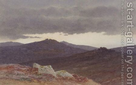 Dusk On Dartmoor by Charles Edward Snr Brittan - Reproduction Oil Painting