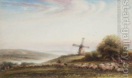 On The Downs Near Brighton by James Orrock - Reproduction Oil Painting