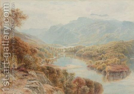 Loch Katrine From Above The Silver Strand by Ebenezer Wake Cook - Reproduction Oil Painting