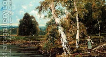 Burnham Beeches by Theodore Hines - Reproduction Oil Painting