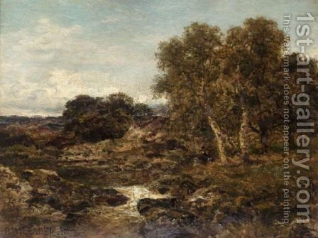 On The Llugwy, Near Capel Curig by Benjamin Williams Leader - Reproduction Oil Painting