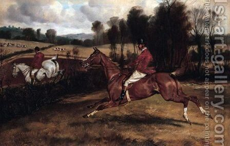 The Chase by Alfred Wheeler - Reproduction Oil Painting