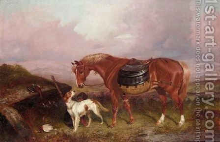 Rest From Hunting by Colin Graeme Roe - Reproduction Oil Painting