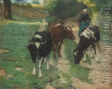 Evening In Brittany by Charles William Bartlett - Reproduction Oil Painting